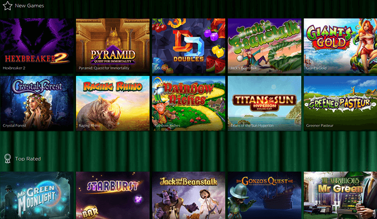 mr green casino review slots