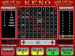 Online casino Keno is a lottery game