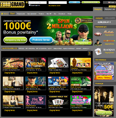 eurogrand casino review slos