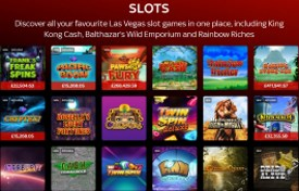 What kind of slots offers Sky Vegas casino?