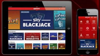 How can I access the mobile version of Sky Vegas casino?